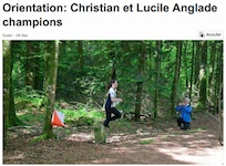 Orientation : Christian et Lucile Anglade champions